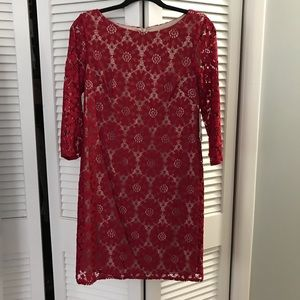 Red Lace Jessica Howard 10P dress